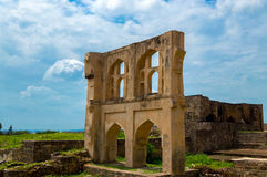 Golconda堡垒,海得拉巴-印度 库存照片