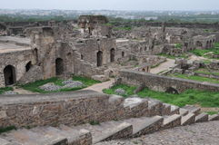 Golconda Fort in Hyderabad Stock Photos