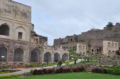 Golconda Fort in Hyderabad Lizenzfreie Stockbilder