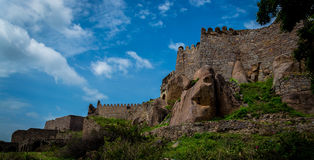 Golconda fort Hyderabad, India, - Zdjęcie Stock