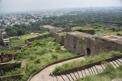 Golconda fort, Hyderabad, India. Golconda fort view, Hyderabad, India Royalty Free Stock Photo