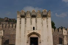 Golconda fort, Hyderabad, Indien Royaltyfri Fotografi