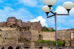 Golconda-Fort, Hyderabad - Indien Lizenzfreies Stockbild