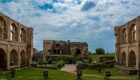 Golconda-Fort, Hyderabad - Indien stockfoto