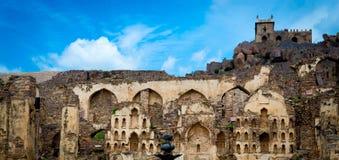 Golconda fort, Hyderabad - Indien Royaltyfri Foto