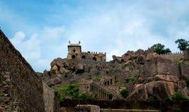 Golconda-Fort, Hyderabad - Indien stockfotos