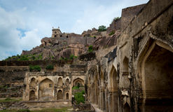 Golconda fort, Hyderabad - Indien Arkivbild