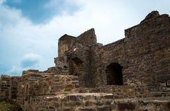 Golconda fort, Hyderabad - Indien Arkivfoto