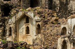 Golconda fort, Hyderabad - Indien Arkivfoto
