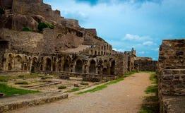 Golconda fort, Hyderabad - Indien Royaltyfri Fotografi