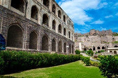 Golconda fort, Hyderabad - Indien Fotografering för Bildbyråer