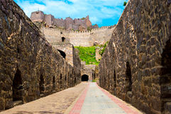 Golconda-Fort, Hyderabad - Indien Stockfotografie