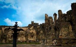 Golconda fort, Hyderabad - Indien Arkivbild