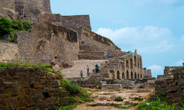 Golconda-Fort, Hyderabad - Indien Stockbilder