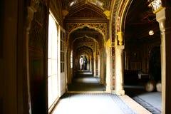 Golconda fort på Hyderabad Indien Royaltyfri Fotografi