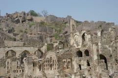 Golconda fort przy Hyderabad India Zdjęcie Stock