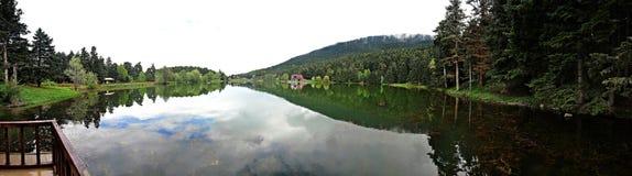 Golcuk Lake in Bolu, Turkey. Golcuk Lake natural park with beautiful reflection in Bolu, Turkey Stock Image
