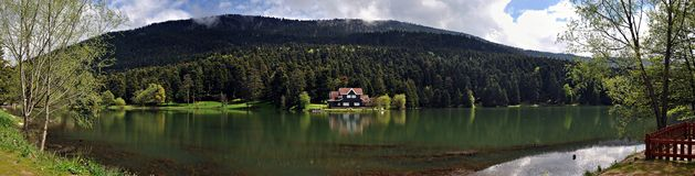 Golcuk Lake in Bolu, Turkey. Golcuk Lake natural park with beautiful reflection in Bolu, Turkey Stock Photography