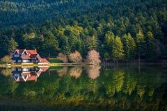 Golcuk sjö i Bolu, Turkiet royaltyfri foto