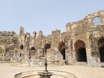 Golcunda fort royaltyfria foton