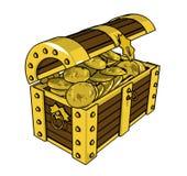 Gold Ñhest lizenzfreies stockfoto