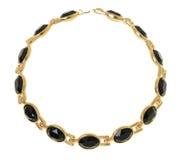 Gold überzogene Halskette Lizenzfreie Stockfotos