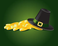 Gold. Vector illustration related with St. Patrick day Stock Photo