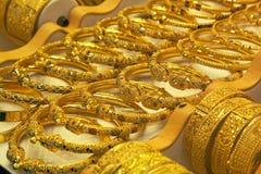 Gold. Handcraft in Souk of Dubai Royalty Free Stock Photos