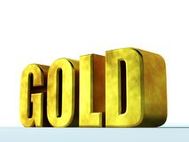Gold. Render 3D of the letters Royalty Free Stock Image