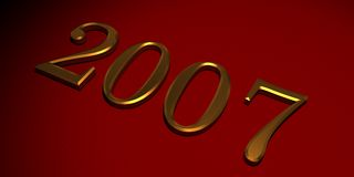 Gold 2007 Royalty Free Stock Photo