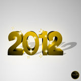 Gold 2012. Creative 2012 gold and brilliant stock illustration