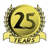 Gold 25 years. Creative design of gold 25 years Stock Images