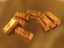 Gold. 3D Illustration of Gold Krüger Rand royalty free illustration