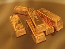 Gold. 3D Illustration of Gold Krüger Rand stock illustration