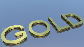 Gold. En letters on blue ground Royalty Free Stock Images