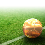Gold 3d Football Royalty Free Stock Image
