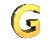 Gold 3d letter G Royalty Free Stock Image