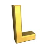 Gold 3d letter L Royalty Free Stock Photography