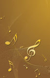 Gold 3D music notes stock illustration