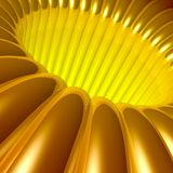 Gold 3d Tunnel Stock Photos