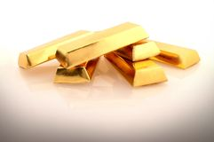 Gold. 6 pieces of pure gold Royalty Free Stock Images