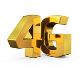 Gold 4G Stock Photo