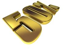 Gold 50 Prozent Lizenzfreies Stockfoto