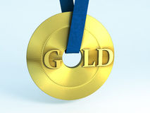 Gold. Background of a Gold medal Royalty Free Stock Photos