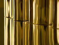 Gold. Sheet metal as gold texture Stock Photography