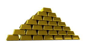 Gold. Bullion on a white background Royalty Free Stock Image