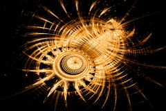 Gold abstract background. Gold abstract fractal background with sun look Royalty Free Stock Photo