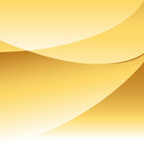 Gold Abstract Background. Abstract gold background with curving overlapping shapes with room for copy Stock Image
