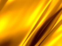 Gold Abstract Background. Gold waving satin 3d background royalty free stock images