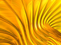 Gold Abstract Background. Gold metallic waving 3d background stock photography